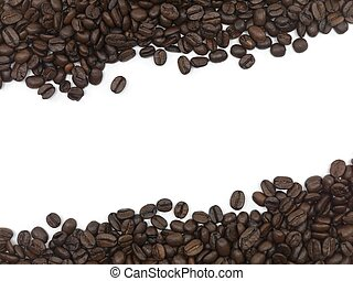 Coffee Beans - Coffee beans isolated against a white...
