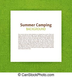 Summer Camp Paper Template