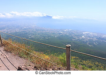 The road to the top of Vesuvius - The road to the top of...
