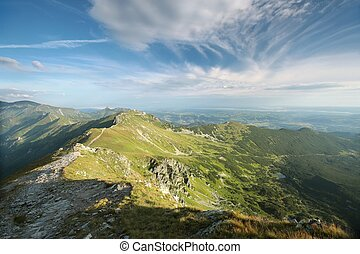 View of the Western Tatra mountains, including the popular...