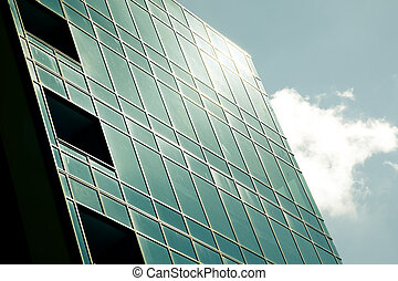 modern corporate glass building