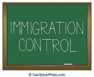 Immigration control concept. - Illustration depicting a...
