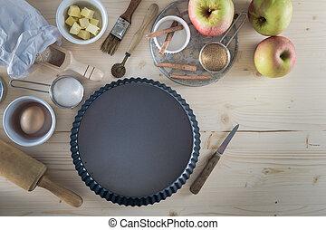 Apple Pie Ingredients - Baking