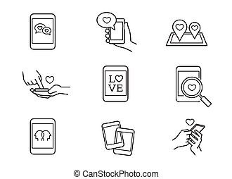 Mobile love icons