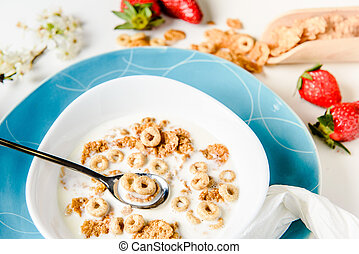 Healthy Breakfast with Cereals and