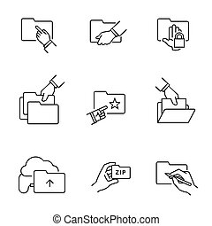Folder document file icons