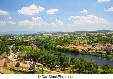 Ciudad Rodrigo - River Agueda in Ciudad Rodrigo, a border...
