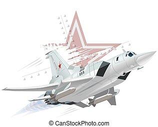 Cartoon Military Airplane - Vector Cartoon Bomber. Available...