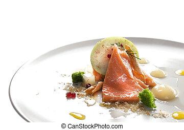 Photos et images de beau chef cuistot garnishing - Cuisine moleculaire bruxelles ...