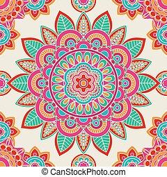Ethnic boho hippie seamless pattern. Vector illustration