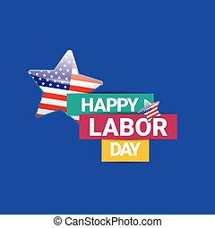 USA Labor day vector background. - Labor day vector...