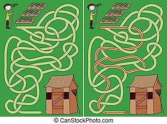 Gardening maze