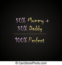 100% Perfect - funny inscription template