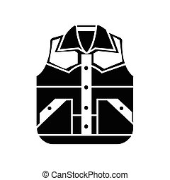Waistcoat vector sketch icon isolated on background