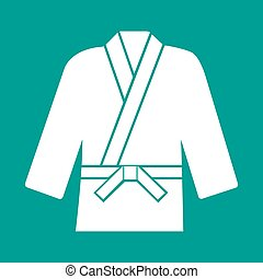 Karate suit icon,vector illustration on background