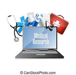 Medical research computer technology isolated sign