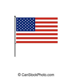 USA flag icon in flat style