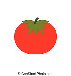 Tomato icon in flat style - icon in flat style on a white...