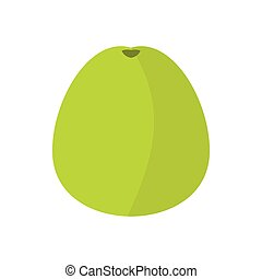 Pomelo icon in flat style - icon in flat style on a white...