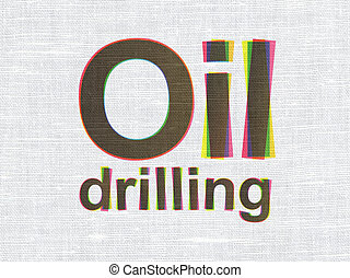 Industry concept: Oil Drilling on fabric texture background...