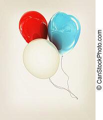 插圖, 顏色, 葡萄酒, 被隔离, 有光澤, 白色, 气球, 風格,  3D