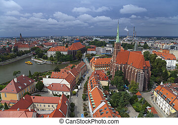 Wroclaw. - Image of Wroclaw, Poland during summer day.