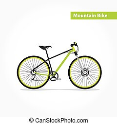 Mountain bicycle, bike flat icon.