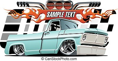Vector Cartoon Lowrider - Vector cartoon Lowrider. Available...