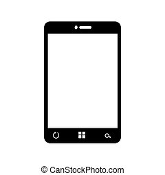 smartphone screen mobile phone icon vector graphic -...