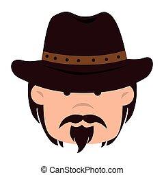cowboy hat western icon vector graphic