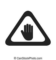 hand sign precaution icon vector graphic
