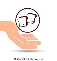 hand holding loaf