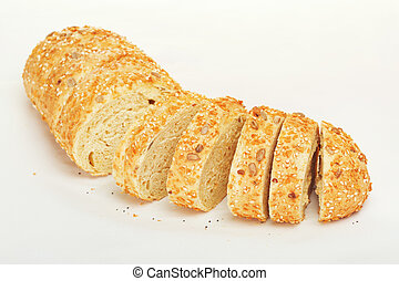 Sliced Corn Bread - sliced corn bread with sesame and...