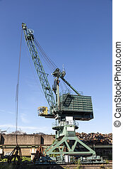 Crane at the industrial port
