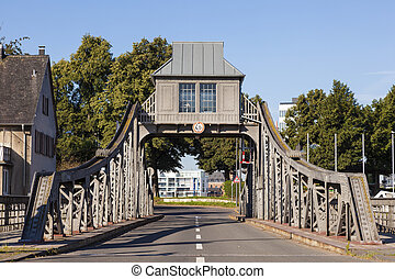 Old Swing Bridge in Cologne, Germany - Historic swing bridge...