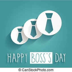 Boss Day handwritten text Blue background Vector...