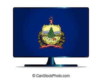 Vermont Flag TV - A TV or computer screen with the Vermont...