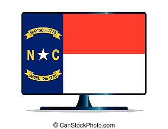 North Carolina Flag TV - A TV or computer screen with the...