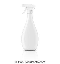 White trigger bottle sprayer - White plastic bottle with...