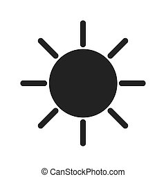 sun light sunlight icon vector graphic - sun light hot...