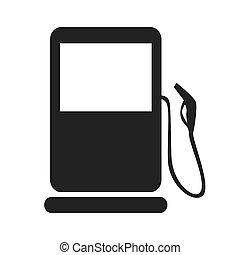 gas pump gasoline icon vector graphic