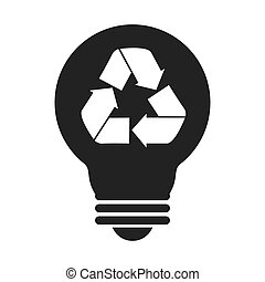bulb recycling symbol icon vector graphic