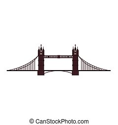 london tower bridge icon vector graphic - london tower...