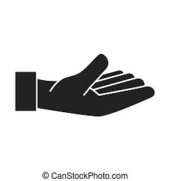 hand open fingers palm icon vector graphic