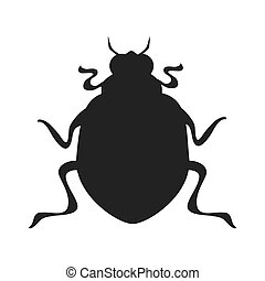 bettle scarab insect icon vector graphic - bug scarab beetle...