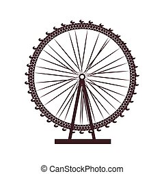 london eye uk icon vector graphic - london eye united...