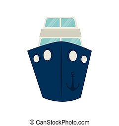 big ship cruise icon vector graphic - big ship boat cruise...