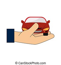 hand car holding icon vector graphic