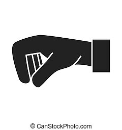 hand palm down icon vector graphic