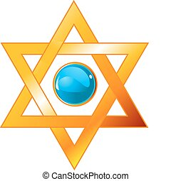 Magen David - Illustration of star of David Magen David